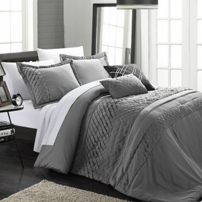 Chic Home Claire 9-Piece Queen Comforter Set in Beige