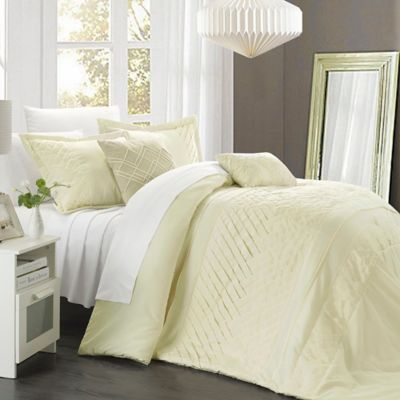Chic Home Claire 9-Piece King Comforter Set in Beige