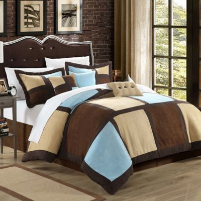 Chic Home Dana 7-Piece Queen Comforter Set in Blue