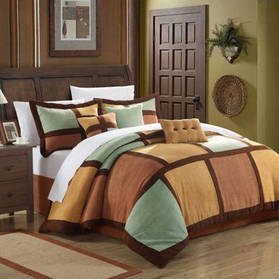 Chic Home Dana 7-Piece Queen Comforter Set in Green