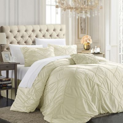 Chic Home Ella 9-Piece King Comforter Set in Beige