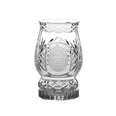 Belleek Galway Crystal Irish Blessing Pillar Hurricane Lamp