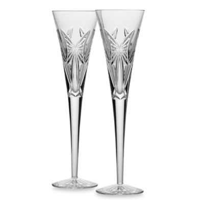 Waterford® Wishes Anniversary Toasting Flutes (Set of 2)
