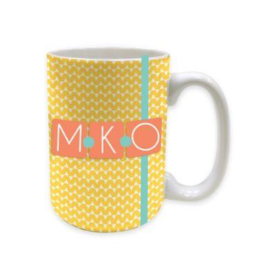 MyDzyne 15 oz. Initials Ceramic Mug