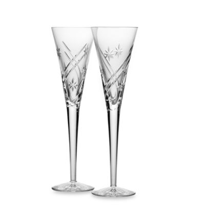 Waterford® Wishes Achievements Toasting Flutes (Set of 2)