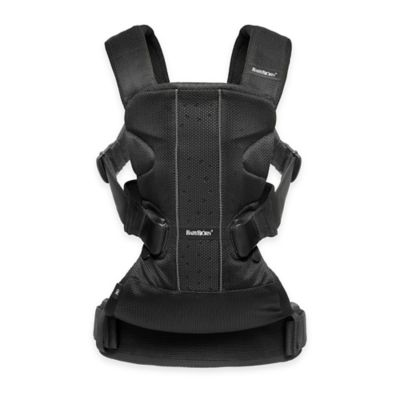 BABYBJORN® 2016 Baby Carrier One with Bib Bundle in Black Mesh