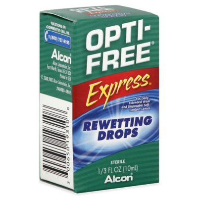 Alcon® Opti-Free® 1/3 oz. Express Contact Lenses Rewetting Drops