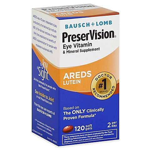 Bausch Lomb Preservision 120 Count Lutein Soft Gels