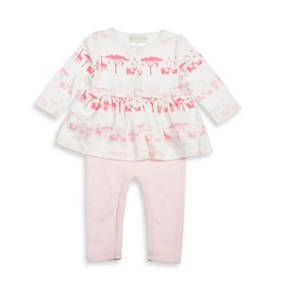 Lucky Jade Size 0-3M Animal Twofer Romper in Pink