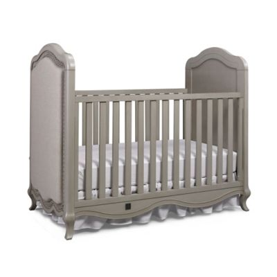 Bel Amore Lyla Rose Upholstered 3-in-1 Convertible Crib in Saddle Grey