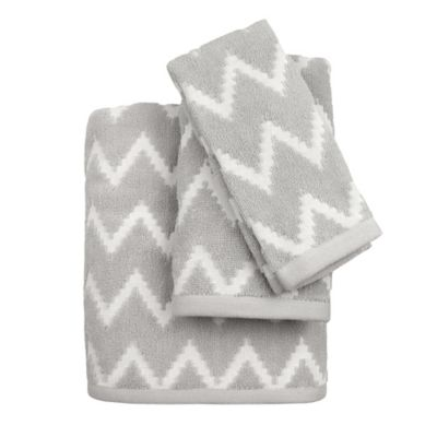 Chevron Dash Fingertip Towel