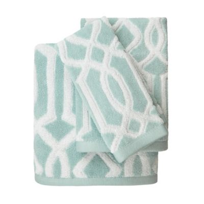 Megan Hand Towel in Aqua