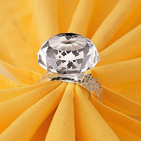 Prodyne Faux Diamond Ring Napkin Ring Set Of 4 Bed