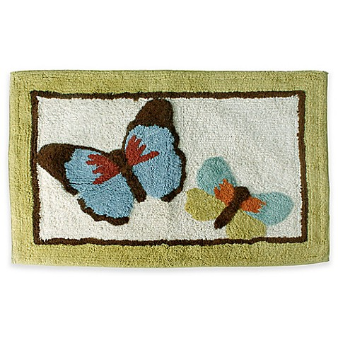 butterfly bliss bath rug bedbathandbeyond