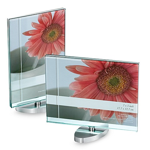 Clear glass block rotating 7 x 5 frame bed bath beyond for Glass block window frame