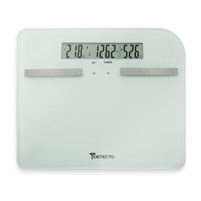 Detecto® Wide Body Glass LCD Digital Body Fat Scale