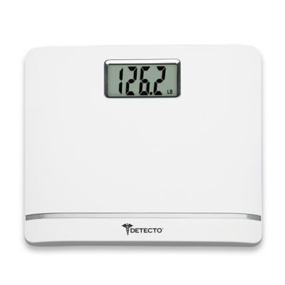 Detecto® Plastic LCD Digital Scale White
