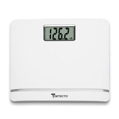 Detecto® Plastic LCD Digital Scale in White