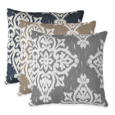 Medina Square Throw Pillow in Grey