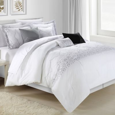 Chic Home Gracia 12-Piece Queen Comforter Set in White