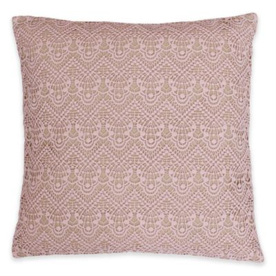 Didi Lace Overlay 20-Inch x 20-Inch Throw Pillow