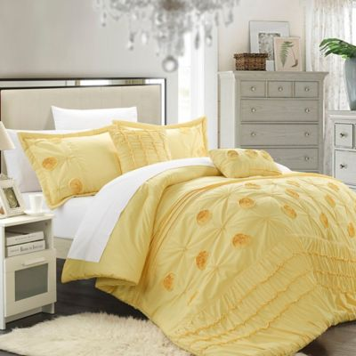Chic Home Felix 9-Piece Queen Comforter Set in Yellow