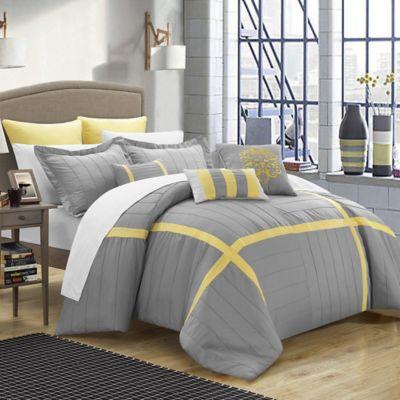Chic Home Geraldine 12-Piece King Comforter Set in Grey