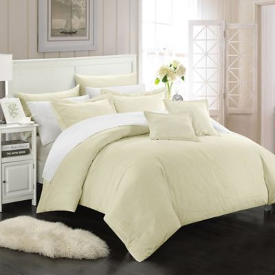 Chic Home Kanya 11-Piece Full/Queen Comforter Set in White