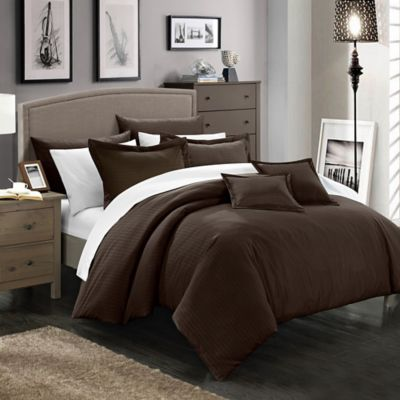 Chic Home Kanya 11-Piece Full/Queen Comforter Set in Brown