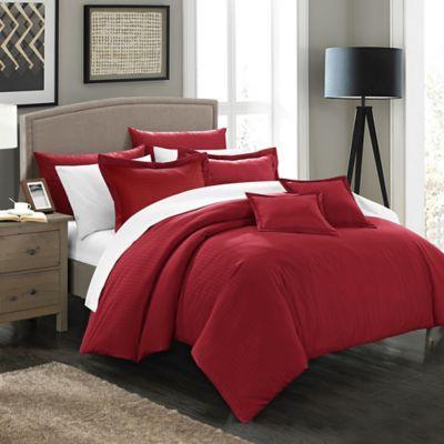 Chic Home Kanya 11-Piece King Comforter Set in Burgundy