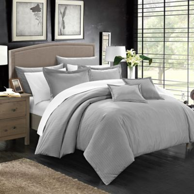 Chic Home Kanya 5-Piece Twin Comforter Set in Silver
