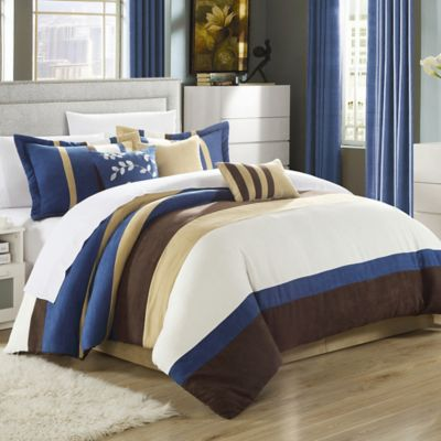 Chic Home Katherine 7-Piece King Comforter Set in Blue