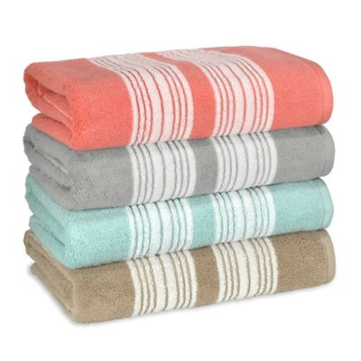 Coastal Stripe Bath Towel in Blue