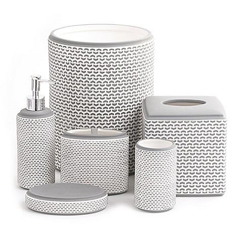 Porcelain Bars Bath Ensemble - BedBathandBeyond.com