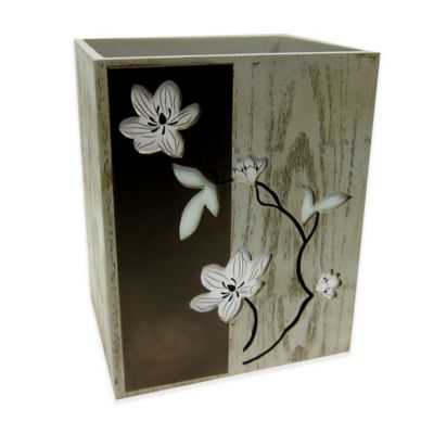 Croscill® Magnolia Floral Wastebasket
