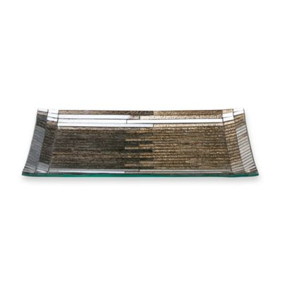 Metallic Ombre Glass Guest Towel Tray