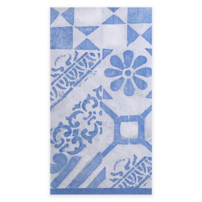 Blue and White Guest Towel