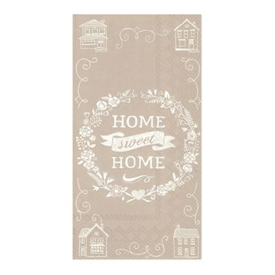 "Caspari ""Home Sweet Home"" 3-Ply Paper Guest Towels"