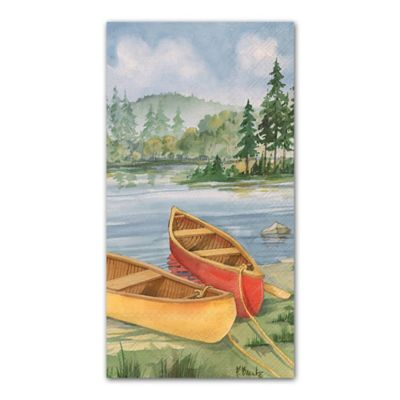 16-Count Cabin Canoes 3-Ply Paper Guest Towels
