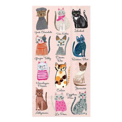 Caspari 16-Count Cool Cats 3-Play Paper Guest Towels