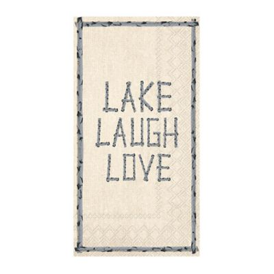 """Lake Laugh Love"" 3-Ply Paper Guest Towels"