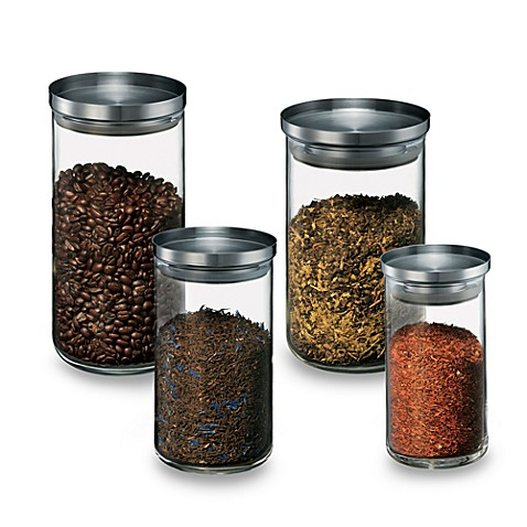 Bodum® Yohki Glass Canister With Stainless Steel Lid