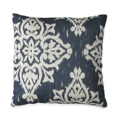 Medina Square Throw Pillow in Navy