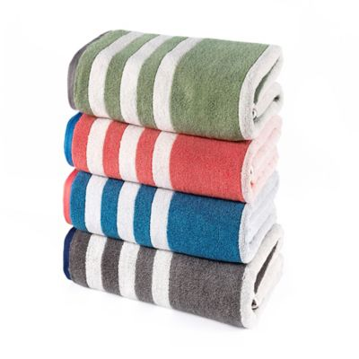 Riviera Stripe Bath Towel in Blue