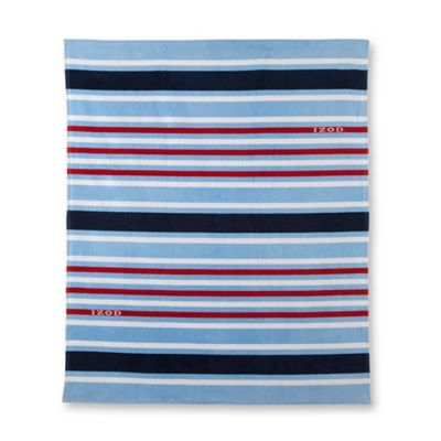 Izod® Deconstructed Stripes Beach Towel in Blue/Navy/Red/White