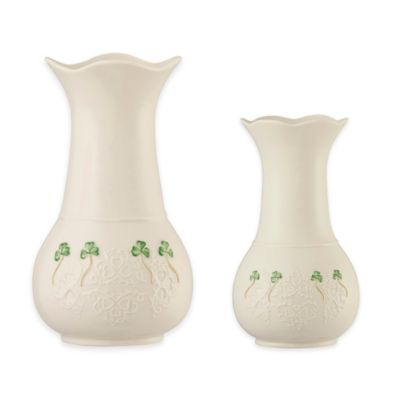 Belleek Shamrock Lace 10-Inch Vase