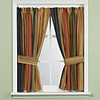 Retro Chic Bathroom Window Curtain with Tiebacks