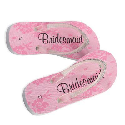 "Lillian Rose™ Size Medium ""Bridesmaid"" Women's Flip Flops"