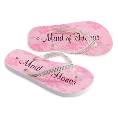 "Lillian Rose™ Size Medium ""Maid of Honor"" Women's Flip Flops"