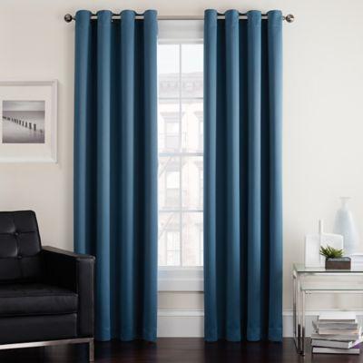 Twilight 84-Inch Room Darkening Grommet Top Window Curtain Panel in Aqua